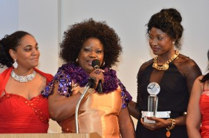 Bessey Ikem and Nollywood friends. To her right is Binta Goudiaby who won an award for Best Supporting Actress In A Feature Film/Dmv