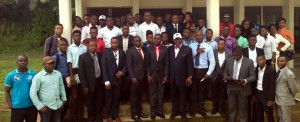 PDP-USA STEM Team with staff and students of Obong University Nigeria during the presentation of the partnership program between Alabama A&M University USA and Obong University Undergraduates. Program is aimed at promoting bilateral learning relationship between Nigeria Universities and United States