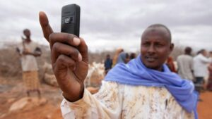 Africans have skipped the landline stage of development and jumped right into the digital age, according to a new study that found cell phones are now as common in South Africa and Nigeria as they are in the United States. Getty Images/Mike Goldwater