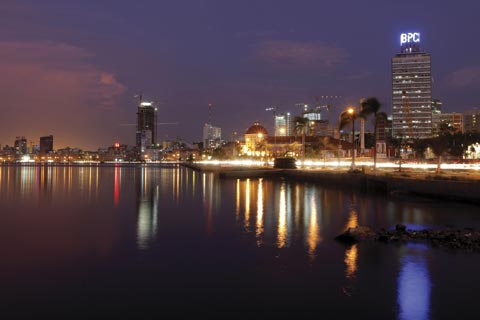 "Skyline of Luanda, Angola: Will Africa be ""the next global economic frontier""? Photograph: Reuters / Mike Hutchings"