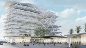 An-artists-impression-of-One-Airport-Square-a-planned-mixed-use-development-in-the-growing-commercial-district-of-Airport-City-in-Accra