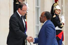 Francois Hollande and Ali Bongo the French Empire may be crumbling in Africa