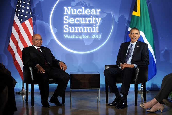The-administration-of-Barack-Obama-–-seated-here-with-South-African-President-Jacob-Zuma-–-has-been-criticised-for-not-focusing-more-foreign-policy-attention-on-Africa.-EPA-Olivier-Douliery
