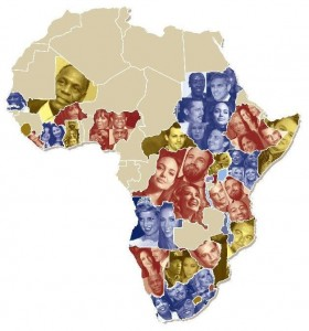celebrity map  of africa