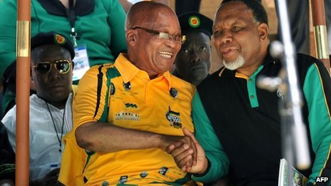 Jacob Zuma (l) and Kgalema Motlanthe (r) have been close allies