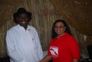Left-Nigerian-President-Goodluck-Jonathan.-Right-Folorunsho-Alakija-