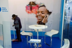 A worker cleans a stand during the opening day of the Africacom Telecommunications Conference on November 14, 2012 in Cape Town, South Africa. The number of Africa's mobile subscriptions will reach 761 million this year, making the continent once again the fastest growing market in the world. The number of subscriptions in Africa is set to hit one billion by 2015, London-based Informa Telecoms & Media said. (Rodger Bosch/AFP/Getty)