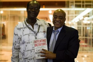 Prof Ayittey and Mo-Ibrahim ,united in a common course to improve democracy and leadership in Africa