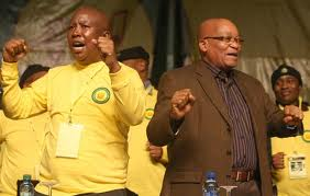 Julius Malema and President Jacob Zuma pictured together in this file photo.