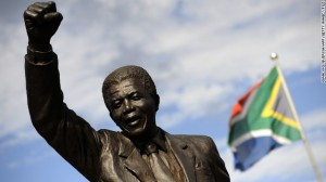 Mandela spent the last of his incarceration at Groot Drakenstein prison in Paarl. A statue depicting him as he walked to freedom in 1990 stands outside.