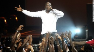 "Born in Senegal, Akon has set up a foundation that's working to build schools and hospitals in the country. ""I am going to keep advancing, doing as much as I can, but I really want to make the biggest impact in Africa,"" he says.  Pictured, Akon performing in Nairobi, Kenya, at the 2009 MTV Africa Music Awards."