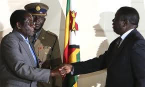 President Robert Mugabe and opposition rival ,Prime Minsiter Morgan Tsvangirai