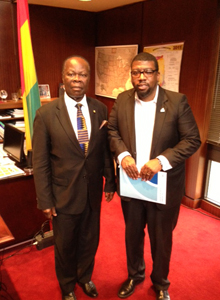 His Excellency Mr. Daniel O. Agyekum, Ghana's Ambassador to the United States and Crispian Kirk, President and CEO of Opportunities Industrialization Centers International (OIC International)
