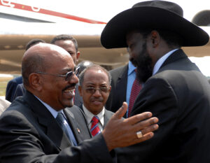 Sudanese President Al Bashir arrived in South Sudan capital Juba to attand the declaration of independence.