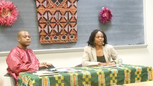 Dr. Kwame Akonor, Director of African Development Institute and Seton Hall University's Center for Africana Studies (l) and Amini Kajunju, president and CEO of The Africa-America Institute
