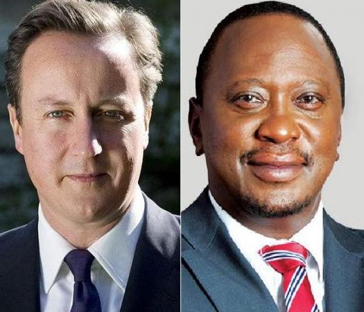 British Prime Minister David Cameron and Kenyan President Uhuru Kenyatta