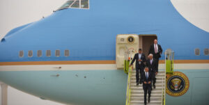 PHOTO | MANDEL NGAN US President Barack Obama steps off Air Force One upon arrival at Hartsfield-Jackson Atlanta International Airport in Atlanta, Georgia, on May 19, 2013. Obama will go on his first African tour between June 26 and July 3.  AFP
