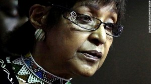 Winnie Madikizela Mandela, seen in a file photo from 13 March, 2010