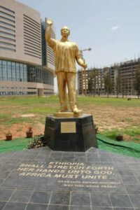 Dr. Nkrumah's statue at the site of the new AU Conference Centre
