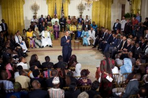 Obama addressing young African Leaders