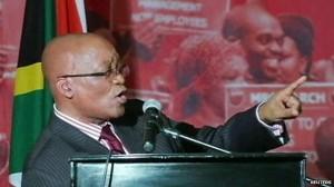 South Africa's President Jacob Zuma has been singing in praise of Nelson Mandela