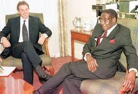 Mugabe and former British Prime Minister Tony Blair