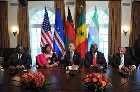 Obama with African Leaders at White House