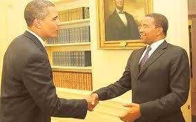 President Obama with Tanzanian President Jakaya Kikwete