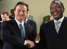 Kenyan President Uhuru Kenyatta with British Prime Minister David Cameron