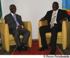 Former South African President Thabo Mbaeki and Congolese President Joseph Kabila