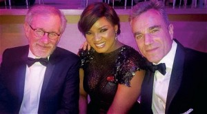 At the Time 100 Gala with Steven Spielberg and Daniel Day-Lewis
