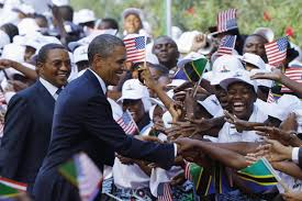 President Obama on a recent  greets Tanzanians during his recent visit