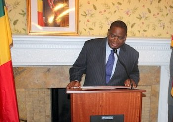 Serge Mombouli, the Republic of Congo's ambassador to the U.S., speaks Monday, Sept. 30, during an event in Washington to celebrate the country's 53rd anniversary of its independence from France. ALSENY BEN BANGOURA