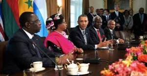 President Obama with African at the White House