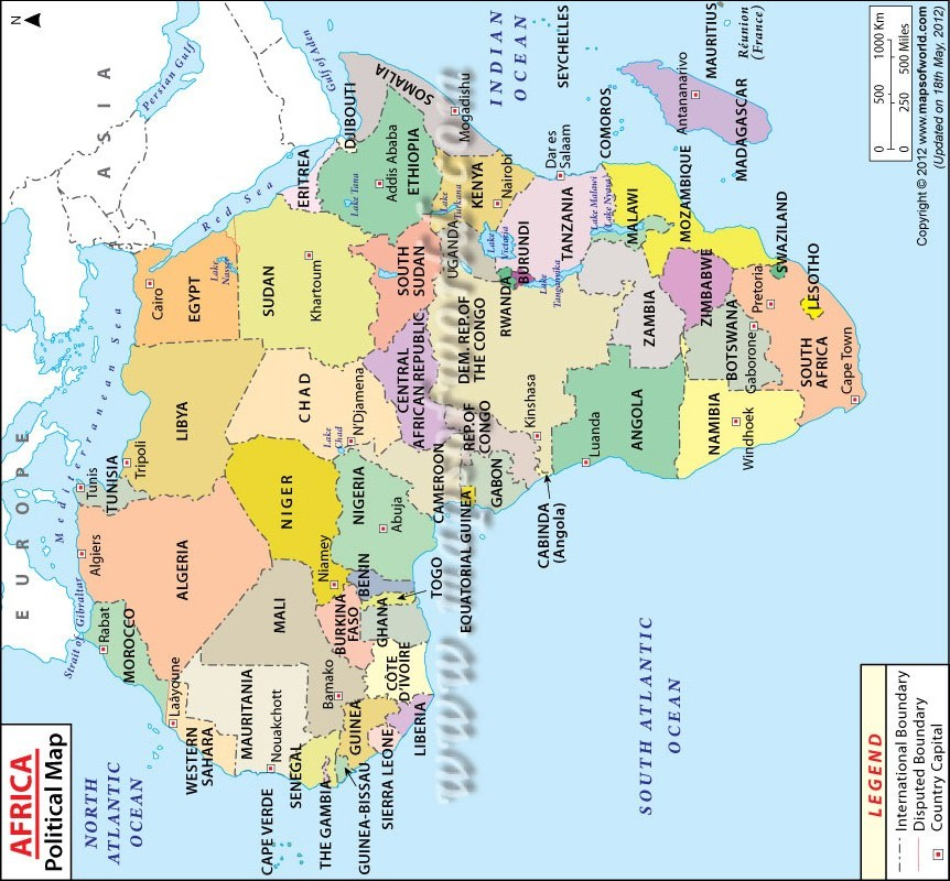 Africa S Map.The Map Of Africa A Pointer To Africa S Great Future Pan
