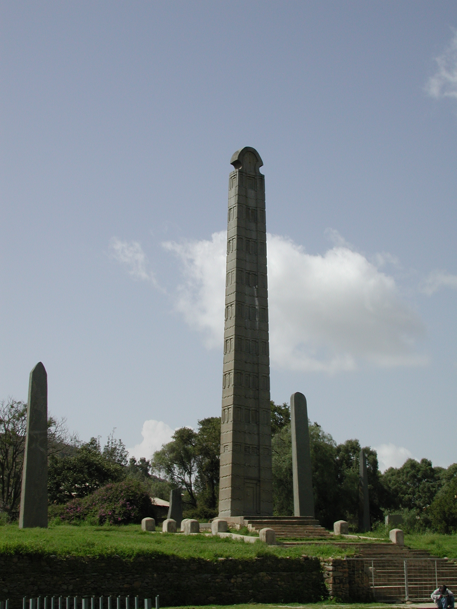 The Axum Obelisks had been looted by Italian fascists in 1937. It was returned to Ethiopia in 2005 and is now a very important landmark. It originated before the 400th century.