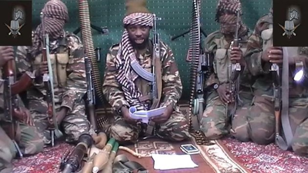 AFP/Boko Haram/AFP/File - This screengrab taken on September 25, 2013 from a video distributed through an intermediary to local reporters and seen by AFP, shows a man claiming to be the leader of Nigerian Islamist extremist group Boko Haram, Abubakar Shekau
