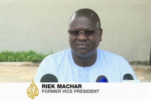 There is a rebellion against Salva Kiir in the SPLA. The SPLA are fed up with Salva Kiir and want him out. - Riek Machar, former vice president  in Aljazeera Interview