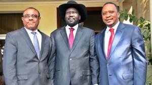 The leaders of Ethiopia, South Sudan and Kenya met in Juba on Thursday