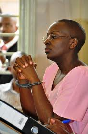 Victoire Ingabire at her trial earlier this year