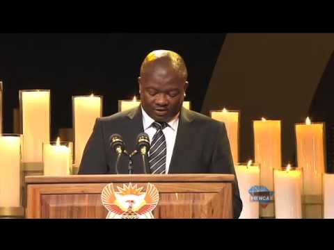 Holomisa delivering a vote of thanks at Madiba's final memorial
