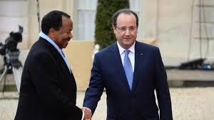 Cameroons Paul Biya and French President Francois Hollande