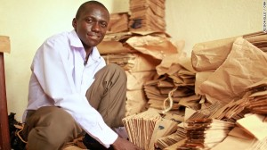 Andrew Mupuya is the founder of Uganda's first registered paper bag company. Youth Entrepreneurial Link Investments (YELI) is supplying restaurants, supermarkets and medical centers in Kampala