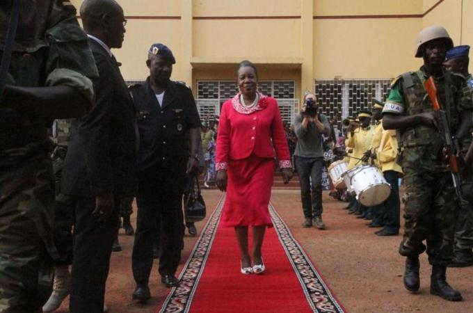 Catherine Samba-Panza is the first female leader in the country's history [AP]
