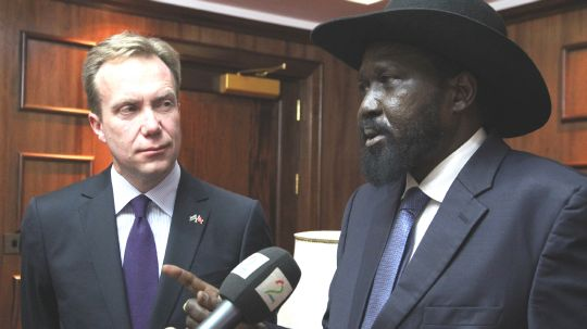 Mr Brende met South Sudanese President Salva Kiir to discuss the political and humanitarian situation in the country and Norway's continued involvement. (Photo: Astrid Sehl, MFA)
