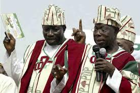 Olusegun Obasanjo, Nigeria's first PDP president and Goodluck Jonathan