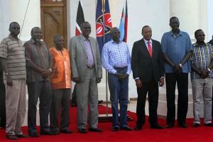President Uhuru with South Sudan Detainees