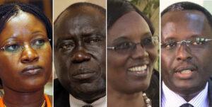 From left: Monique Mukaruliza, Tharcisse Karugarama, Rose Mukantabana and Martin Ngoga. Photos/FILE