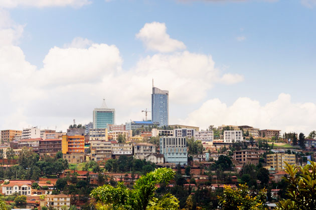 The business district of Kigali, the capital of Rwanda. Photograph by Jaco Wolmarans