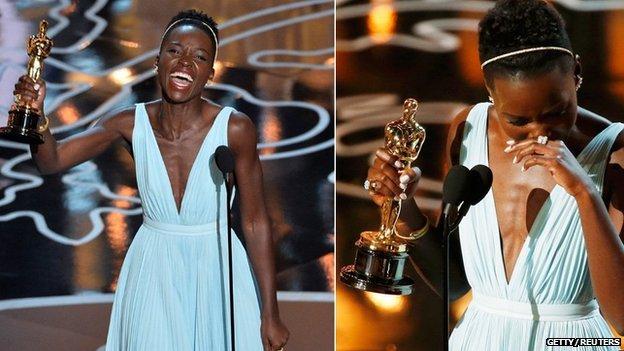 Lupita Nyong'o said the colour of this dress reminded her of Nairobi